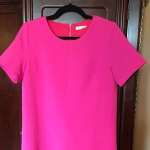 Dresses & Skirts - Short bright pink shirt dress. Sz M